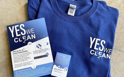 Complete huisstijl voor Yes We Clean!
